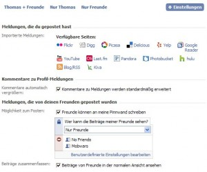 Facebook Pinnwand Privatsphäre