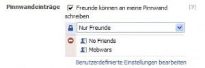 Facebook Privatsphäre Pinnwand schreiben