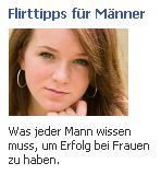 "Facebookwerbung ""Flirttipps"""