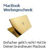 Facebook-Werbung macBook