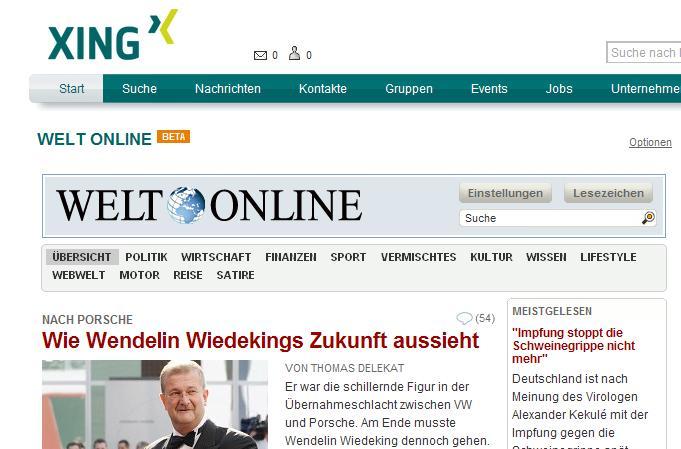 XING-App Welt Online 2