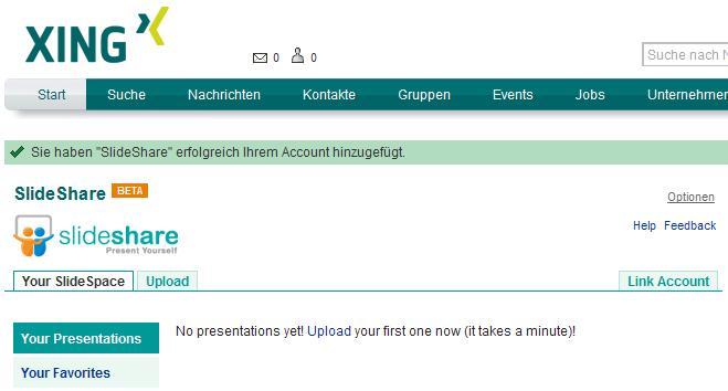 XING-Applikation SlideShare.
