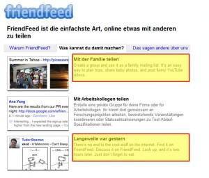 friendfeed screenshot mehrsprachigkeit