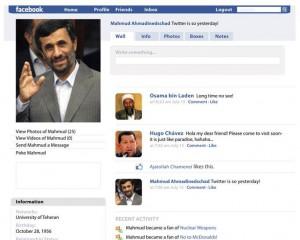 Facebook Profil Mahmud Ahmadindedschad
