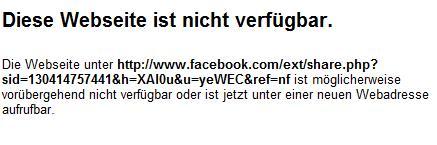 Facebook Error Share