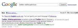 """Google Suchergebis """"twitter wahlergebnisse"""""""