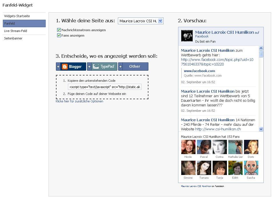 Facebook Widget Fanbox