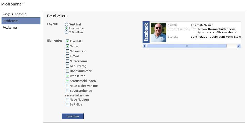 Facebook Widget Profilbanner