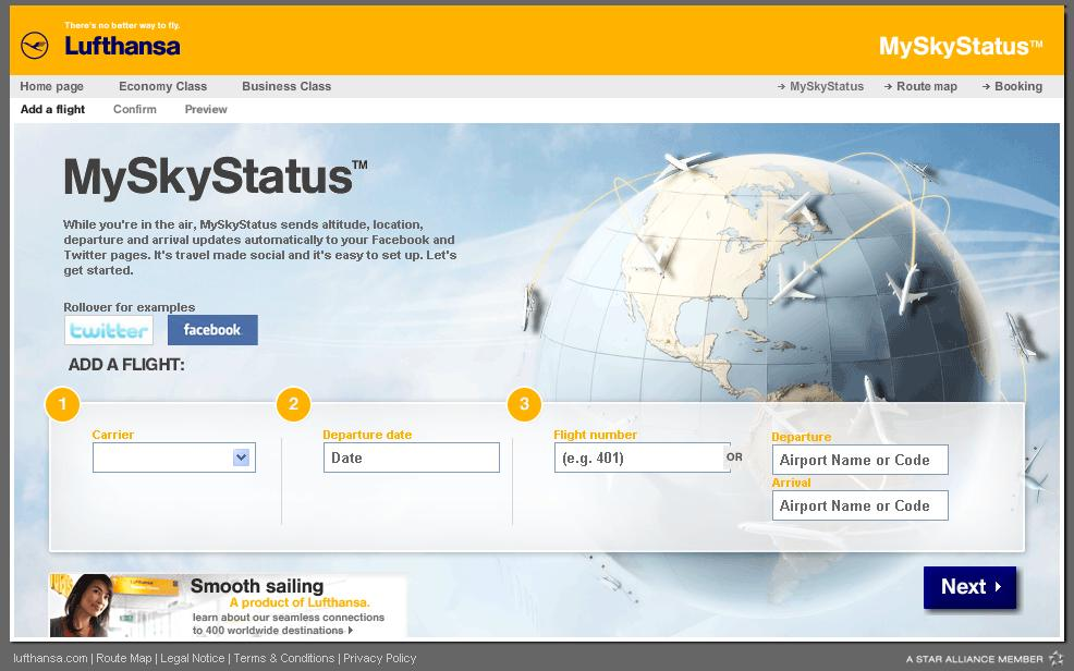 Lufthansa SkyMyStatus.com