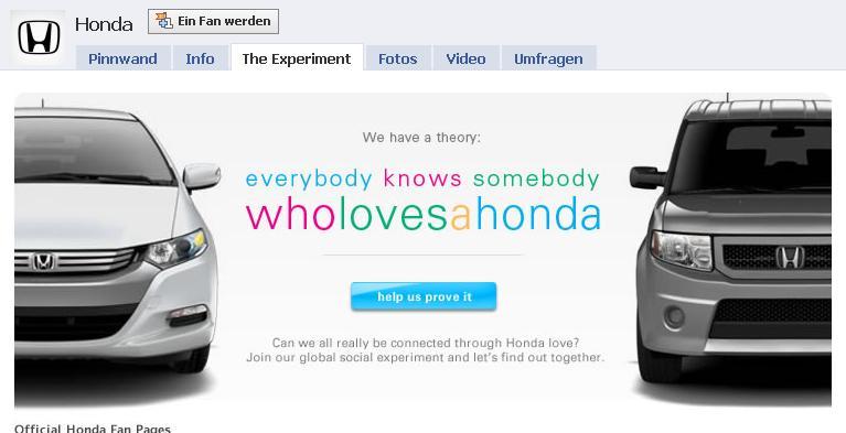 Honda Facebook Page