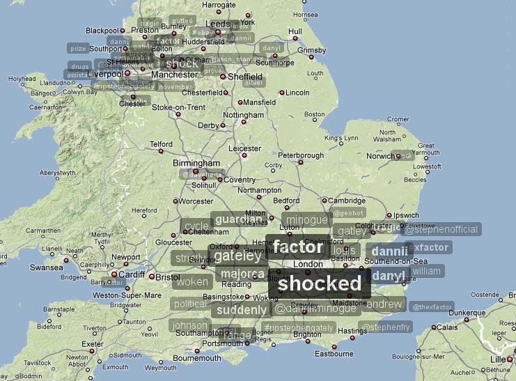 Trendsmap England 11.10.2009