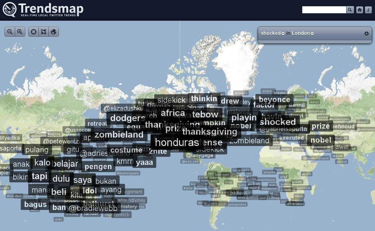 Trendsmap.com - Real-Time Local Twitter Trends
