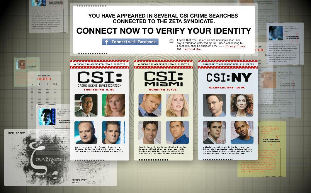 CSI Facebook Connect