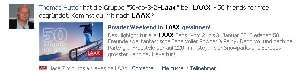 Applikationsseite Laax