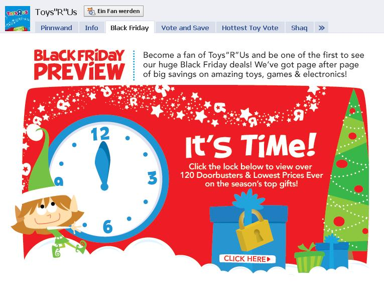 "Facebook Toys""r""Us Black Friday Applikation"