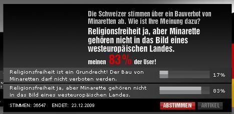 Umfrage bei Bild.de