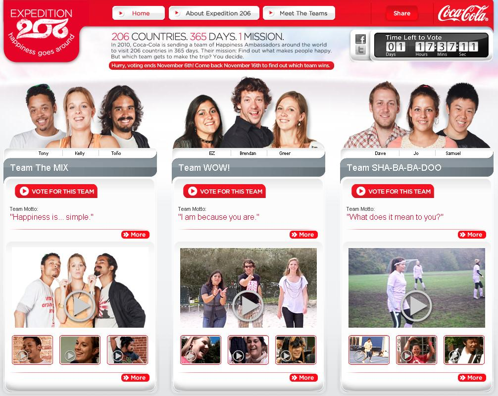 Coca Cola Expedition 206 - Website