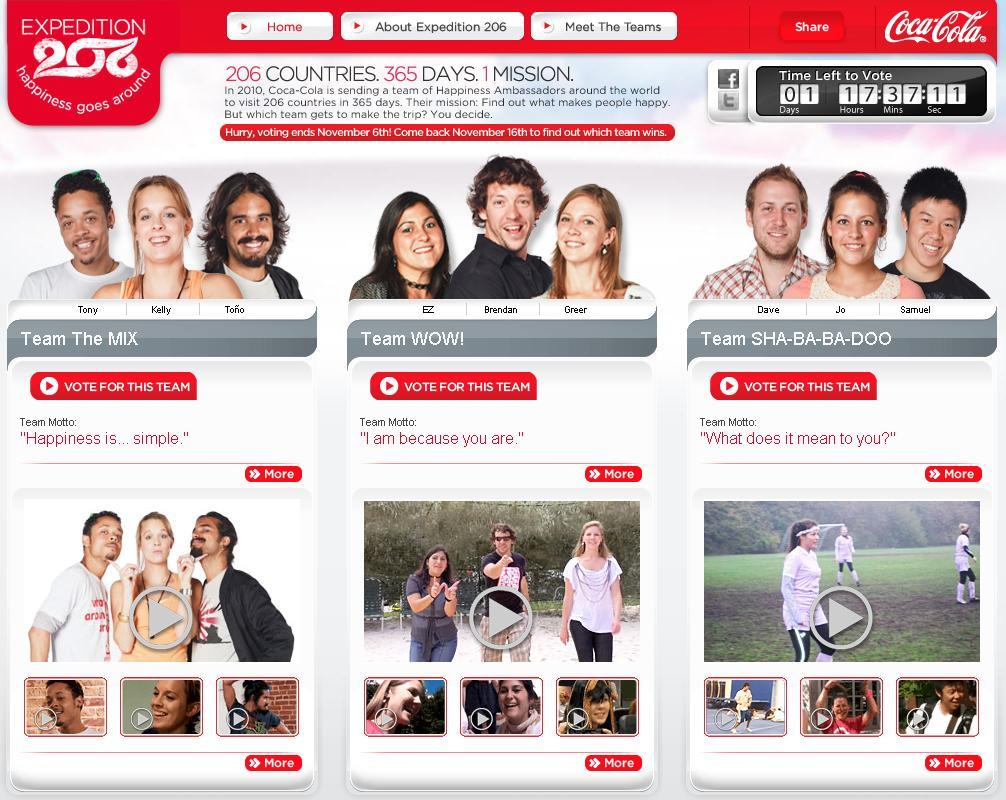 Coca Cola Expedition 206 - Website