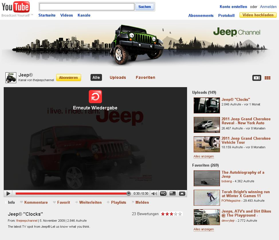 Jeep Youtube Channel