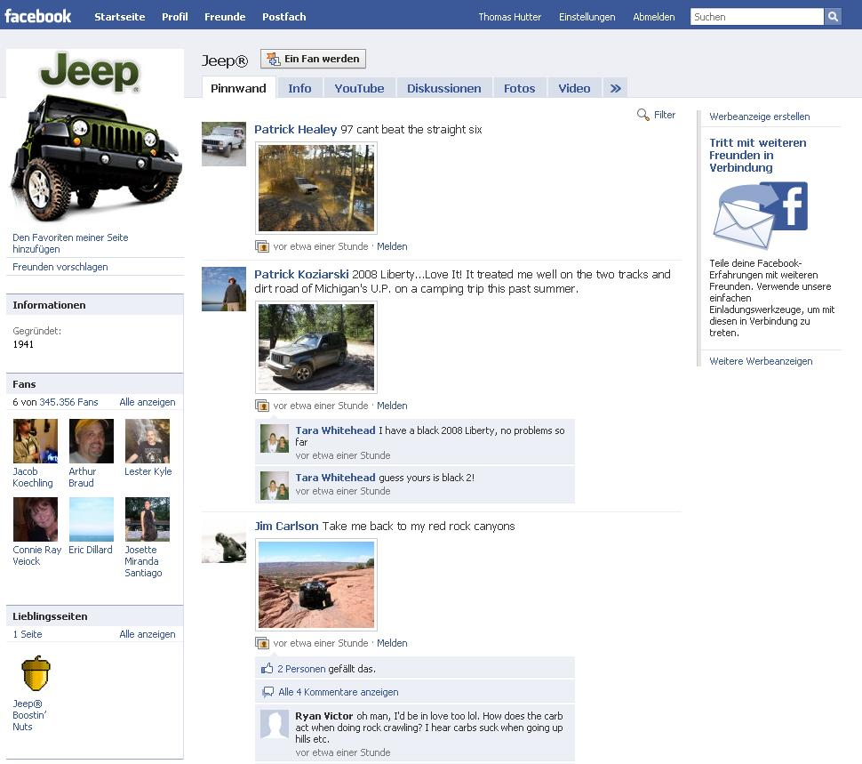 Jeep Facebook Fanpage