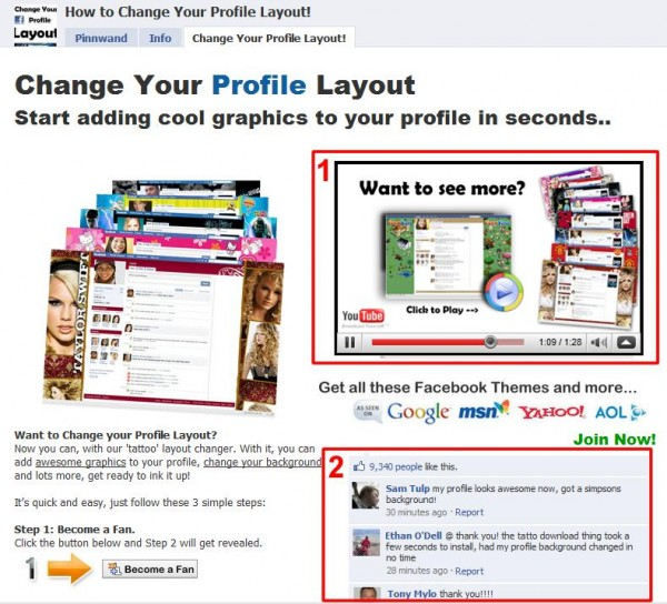 how to change facebook homepage layout