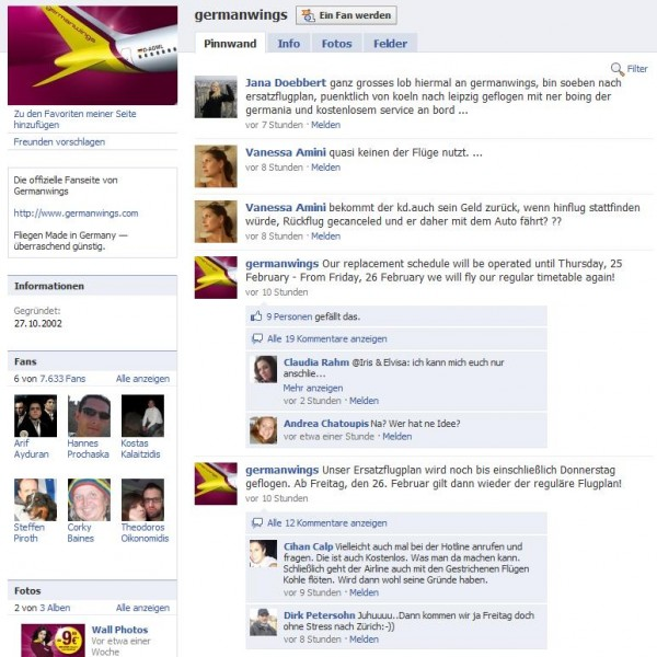 Germanwings Fanpage