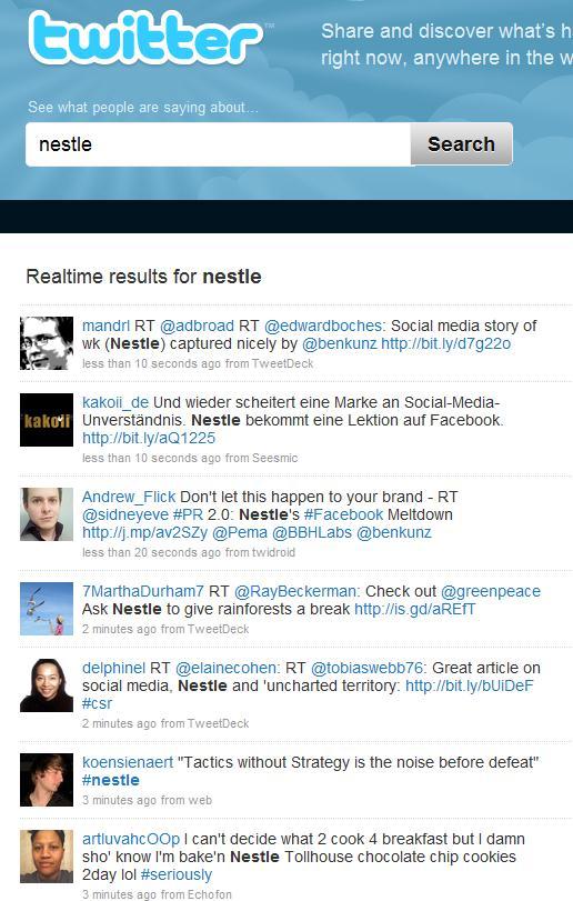 Nestlé / Twitter
