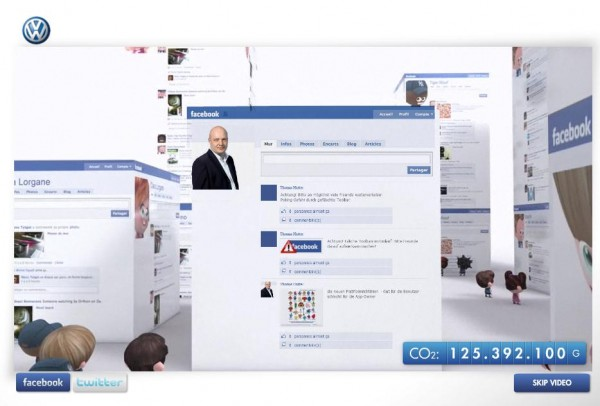 VW BlueMotion Video mit Facebook Connect