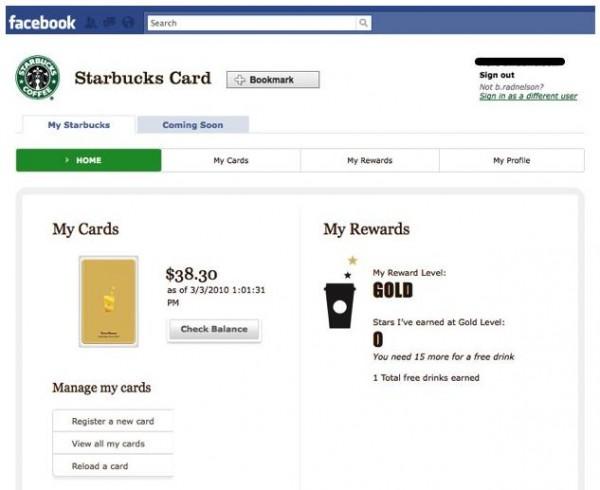 Starbucks Card Applikation
