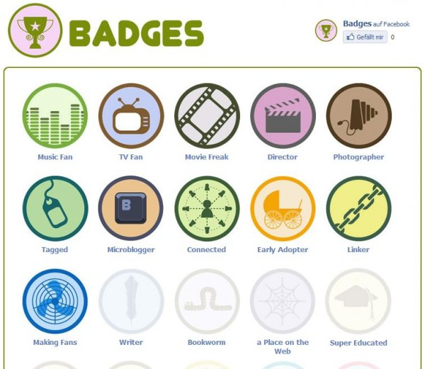 Badges auf Facebook