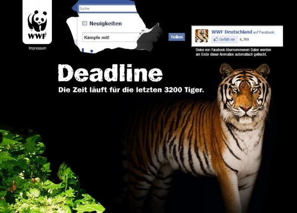 WWF Tiger - Facebook Connect