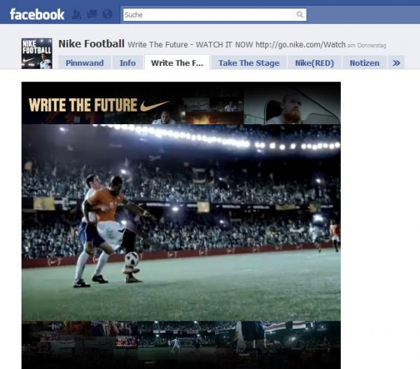 Nike Football auf Facebook