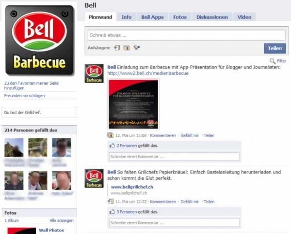 Bell BBQ Facebook Seite