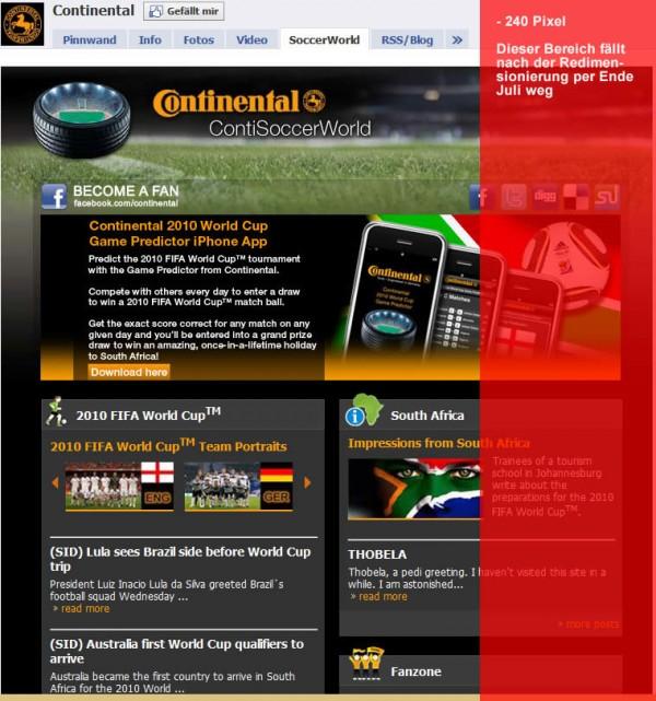 Continental Facebook Seite