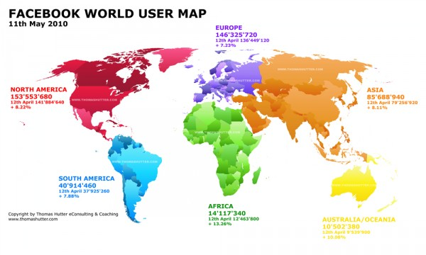 Facebook World User Map 11th May 2010