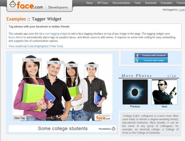 face.com / Foto-Tagging
