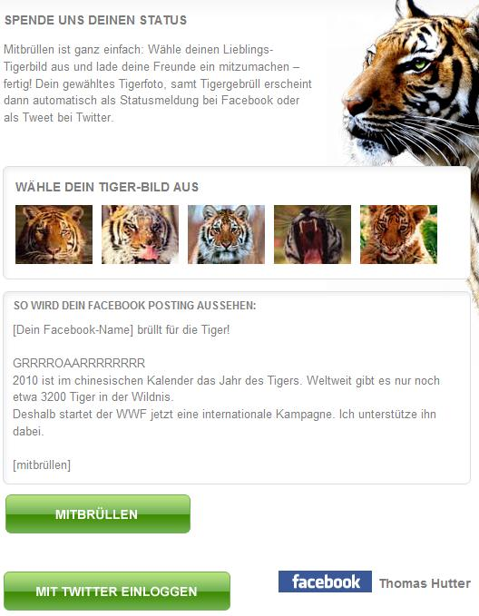 WWF Tigergebrüll