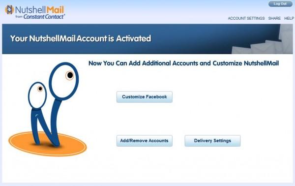 Accountaktivierung bei NutshellMail