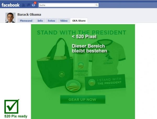 Barack Obama - 10.548 Mio. Fans - 520px ready