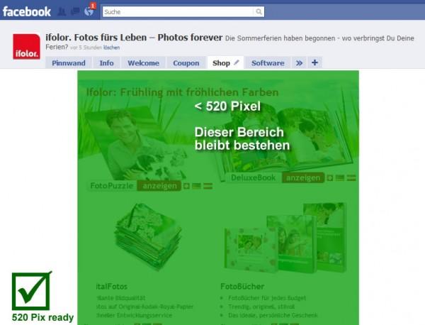 Ifolor - Fotos fürs Leben - 442 Fans - 520px ready