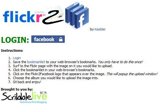 Flickr2Facebook