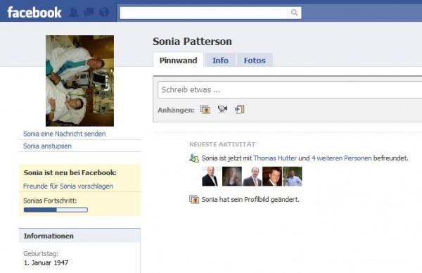 Betrugsprofil von Sonia Patterson