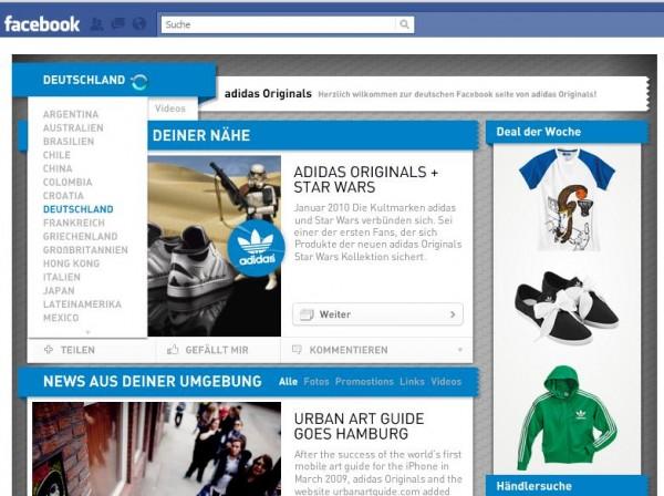 Adidas Originals - Your Area - Länderauswahl