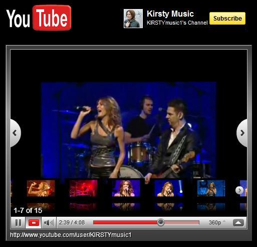 Beispiel eines in FBML integrierten YouTube Channels