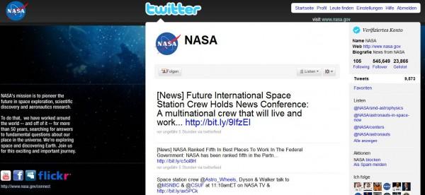 NASA auf Twitter