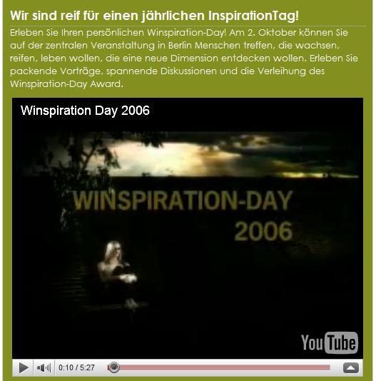 Beispiel eines YouTube Videos auf einer FBML-Seite