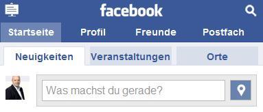 Facebook Places auf touch.facebook.com