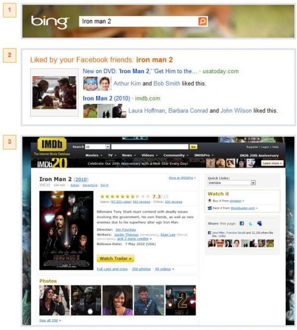 """Suchresultate mit """"gefällt mir"""" Erweiterung auf Bing"""