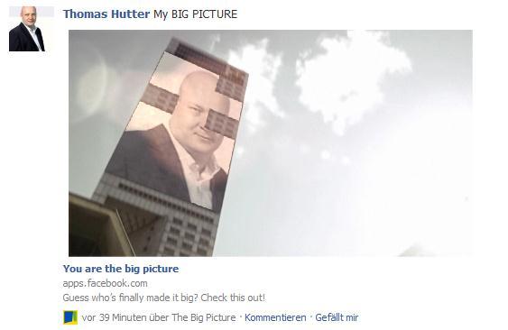 """Individualisiertes Video von """"The Big Picture"""" auf Facebook"""