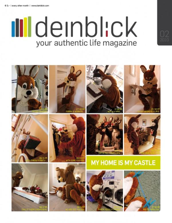 """Cover der nächsten """"deinblick""""-Ausgabe """"my home is my castle"""""""